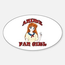 Anime Fan Girl Oval Decal