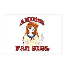 Anime Fan Girl Postcards (Package of 8)