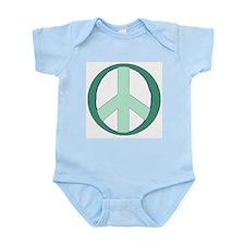 Sea Foam Peace Symbol Infant Creeper