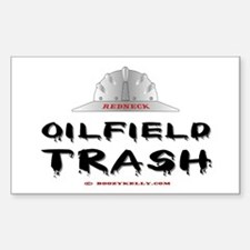 Redneck Oilfield Trash Rectangle Decal