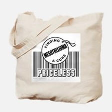 MESOTHELIOMA FINDING A CURE Tote Bag