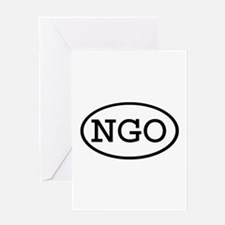 NGO Oval Greeting Card