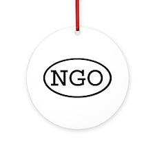 NGO Oval Ornament (Round)