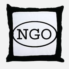 NGO Oval Throw Pillow