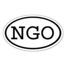 NGO Oval Oval Decal
