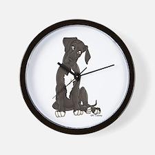 NBlkW Pup Tilt Wall Clock