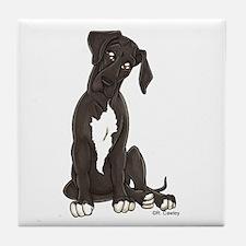 NBlkW Pup Tilt Tile Coaster