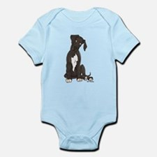 NBlkW Pup Tilt Infant Bodysuit