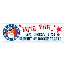 Vote for Welsh Corgi Bumper Bumper Sticker
