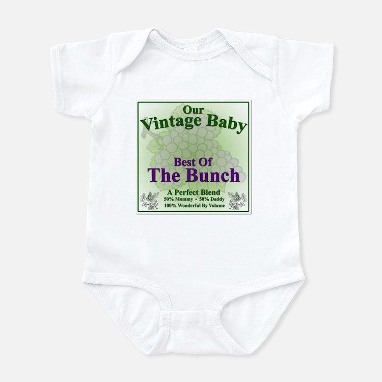 Vintage Baby Wine Label - Infant Bodysuit