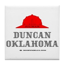 Duncan Oklahoma Tile Coaster