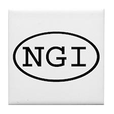 NGI Oval Tile Coaster