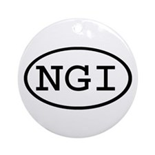 NGI Oval Ornament (Round)