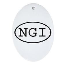 NGI Oval Oval Ornament
