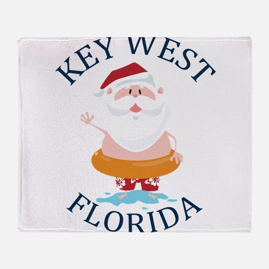 Summer key west- florida Throw Blanket