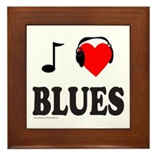 BLUES MUSIC Framed Tile