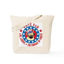 Vote for Pug Tote Bag