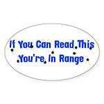 In Range Oval Sticker