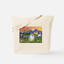 Pomeranian in Fantasyland Tote Bag