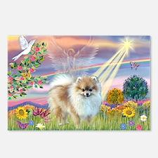 Cloud Angel & Pomeranian Postcards (Package of 8)