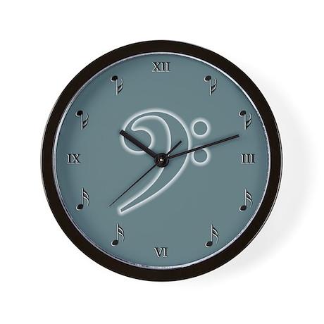 Seafoam Bass Cleff Wall Clock
