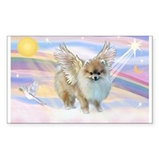 Clouds & Pomeranian Angel Rectangle Decal