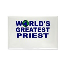 World's Greatest Priest Rectangle Magnet