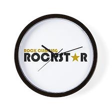Rock Climbing Rockstar Wall Clock