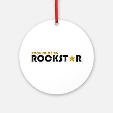 Rock Climbing Rockstar Ornament (Round)