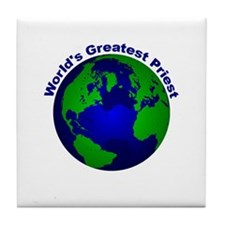 World's Greatest Priest Tile Coaster