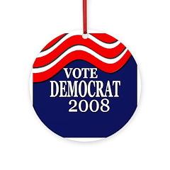 Vote Democrat 2008 Tree Ornament