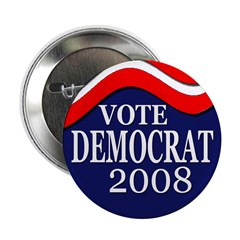 Vote Democrat 2008 (100 Buttons)