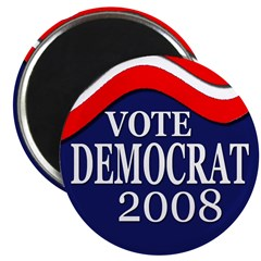 Vote Democrat 2008 (10 Magnets)
