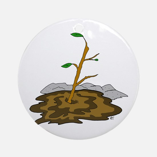Stick In The Mud Ornament (Round)