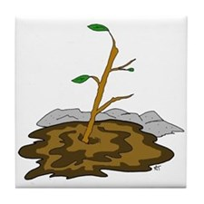 Stick In The Mud Tile Coaster
