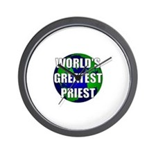 World's Greatest Priest Wall Clock