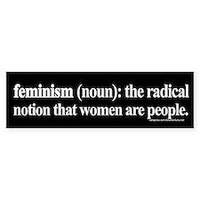 Feminism Defined Bumper Bumper Bumper Sticker