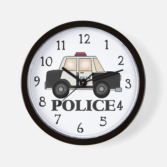 Police Car Wall Clock