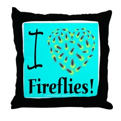 I (Heart) Fireflies #1 Throw Pillow