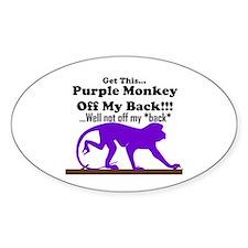 monkeyoffmyback Oval Decal