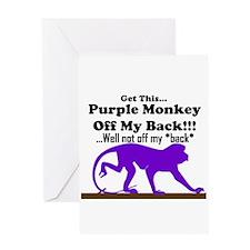monkeyoffmyback Greeting Card