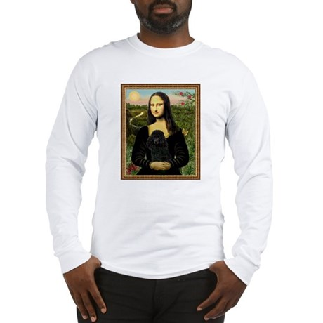 Mona Lisa (new) & Black Poodle Long Sleeve T-Shirt