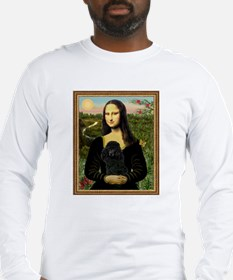 Mona Lisa (new) & Black Poodle Long Sleeve T-Shirt