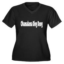 Unique Ding dongs Women's Plus Size V-Neck Dark T-Shirt