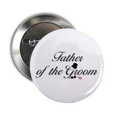 Black Script Father of Groom Button