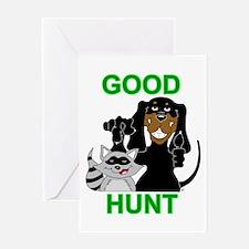 Raccoon Hunting Hound Greeting Card
