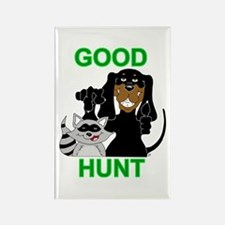 Raccoon Hunting Hound Rectangle Magnet (10 pack)