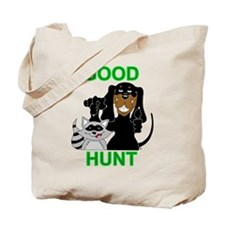 Raccoon Hunting Hound Tote Bag