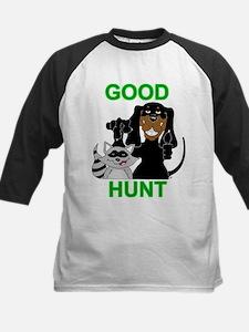 Raccoon Hunting Hound Kids Baseball Jersey