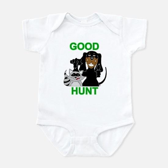Raccoon Hunting Hound Infant Bodysuit